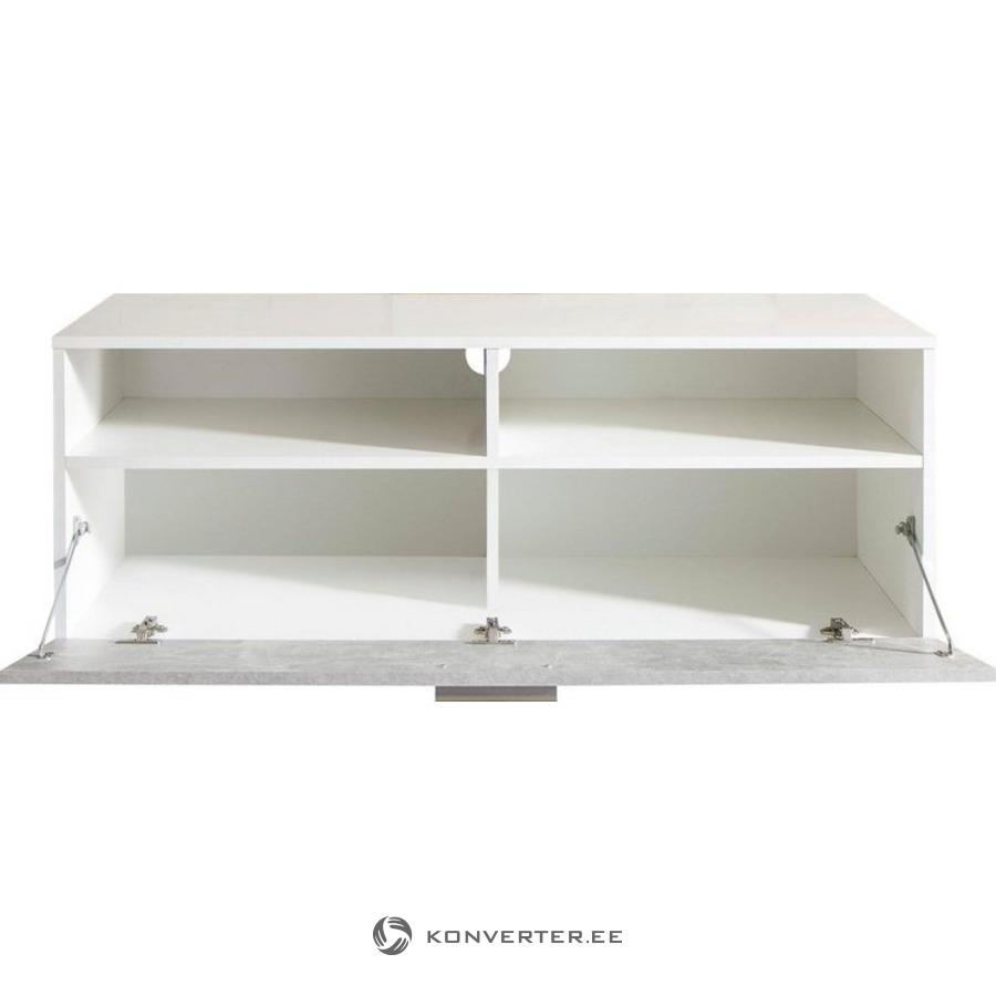 White-light gray TV cabinet (uno) (full box) - Konverter Outlet