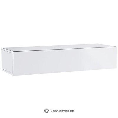 Balta blizgi sieninė spintelė (su grožio defektais. Halės pavyzdys)