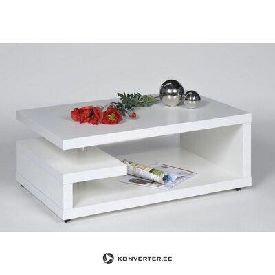 Белый диванный столик с полками (inosign) (недостатки красоты образец зала)