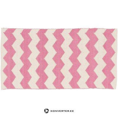 Vaaleanpunainen ja valkoinen matto (boori) 80x150cm