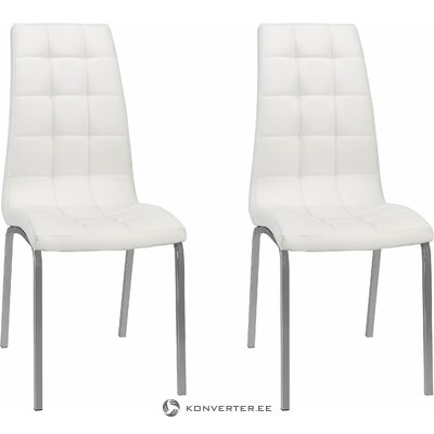 White leather upholstered chair (in box, whole)