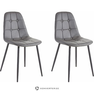Gray soft design chair (whole, in box)