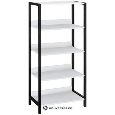 Black and white bathroom shelf chris