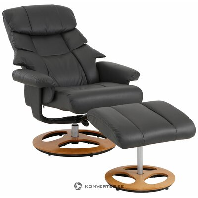 Serpent gray swivel armchair