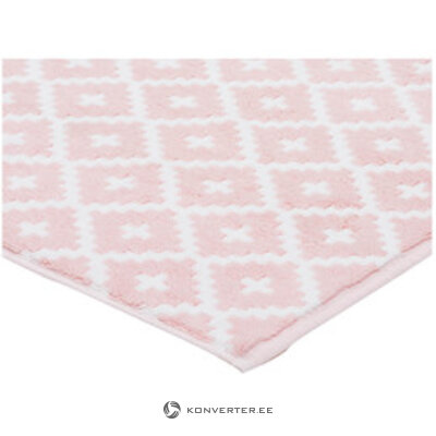 Valkoinen-vaaleanpunainen kylpymatto (framsohn)