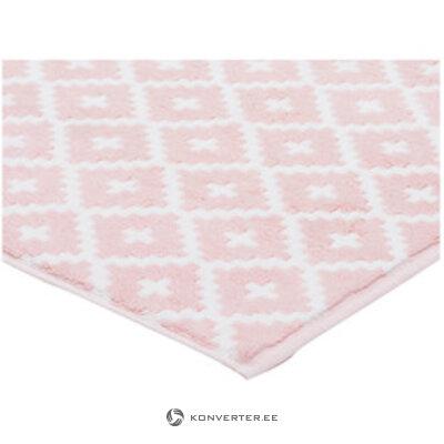 Бело-розовый коврик для ванной (фрамсон)