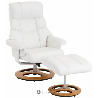 White leather swivel armchair in sight