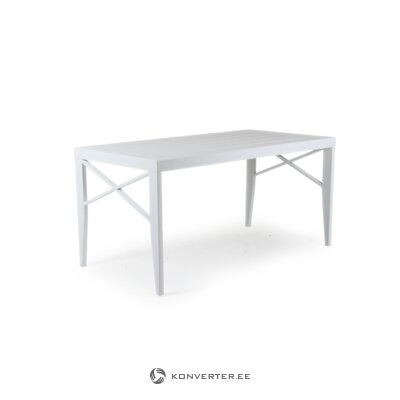 White garden table (brafab)