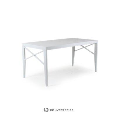 Valkoinen puutarhapöytä (brafab)