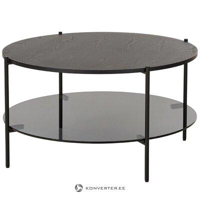 Melns apaļais kafijas galdiņš (valentina) (viss  zāles paraugs)