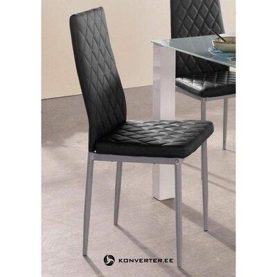 Juoda kėdė su minkšta oda (brooke) (visa, salės pavyzdys)