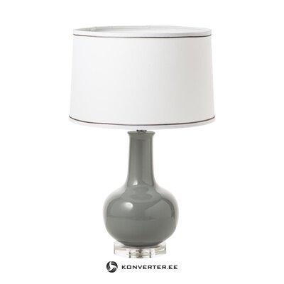 Настольная лампа бело-серая nancy (anderson) (мелкие недочеты, холл образец)