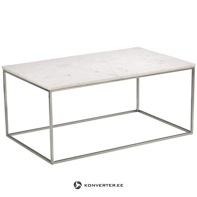 Light marble coffee table (alys) (beauty defect hall sample)