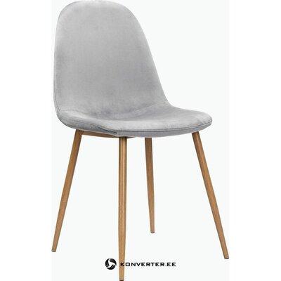 Vaaleanharmaa pehmeä ruokapöydän tuoli (eadwine) ( salinäyte)