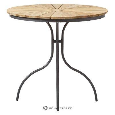 Brūni-melns dārza galds (cinas)