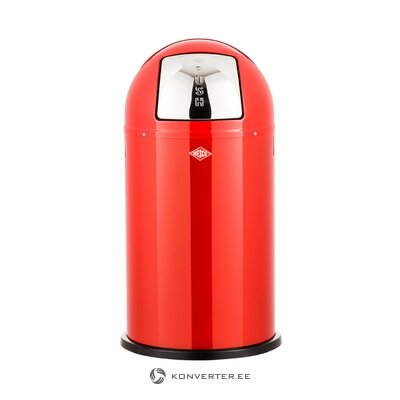 Sarkanā atkritumu tvertne (Wesco) (bojāta, zāles paraugs)