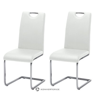 White soft chair (pasala) (with beauty defect, hall sample)