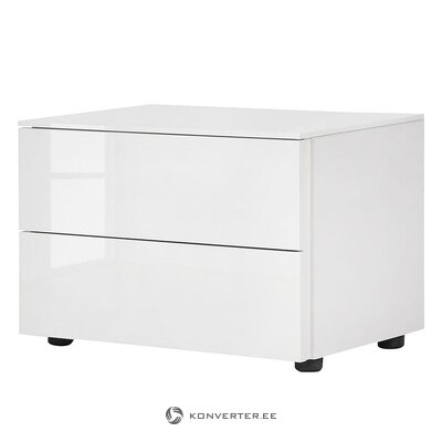 White high gloss bedside table (bianco)