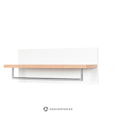 Brown and white solid wood wall shelf (lindholm)