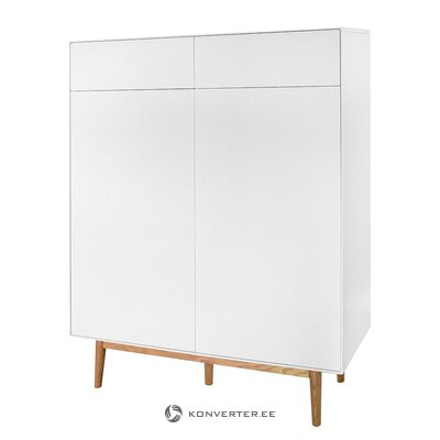White shoe cabinet / chest of drawers (lindholm) (hall sample, with beauty defects)