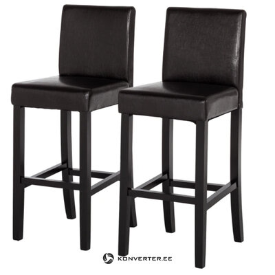 Black full bar stool (nello) (with defect ,, hall sample)