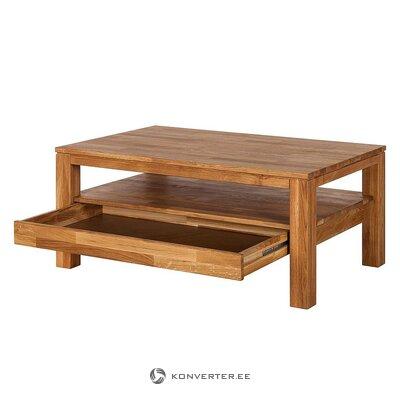 Журнальный столик из цельного дерева