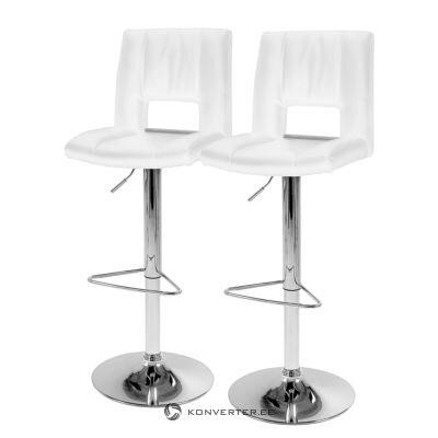Белое кожаное барное кресло (selina) (образец зала, целое)