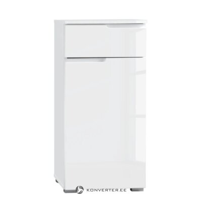 White high gloss bathroom cabinet (larado)