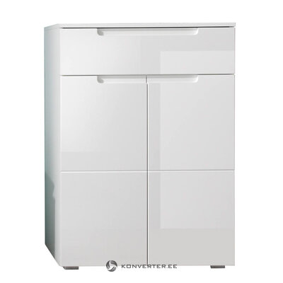 White high gloss chest of drawers / shoe cabinet (larado) (hall sample, with beauty flaws)