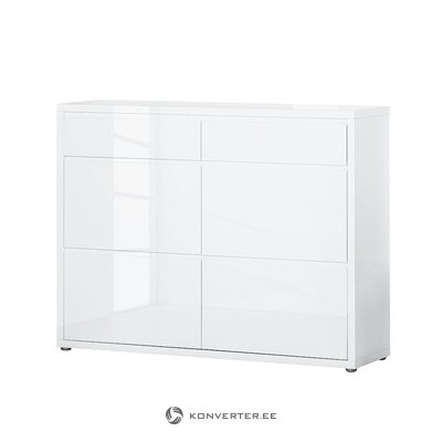 White high gloss shoe cabinet (daytona)