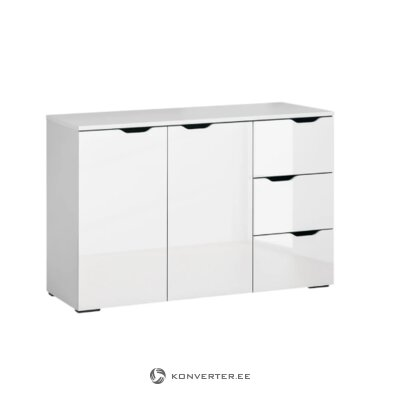 White high gloss chest of drawers (basil)