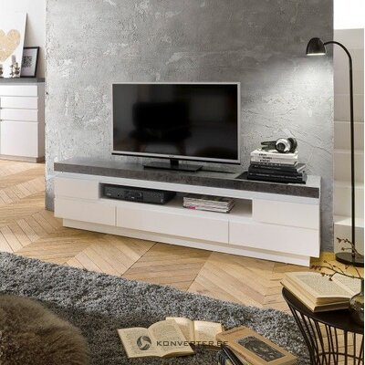 Gray-white TV cabinet (namona) (hall sample, with beauty flaws)
