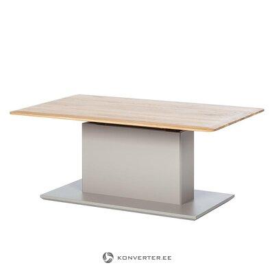 Reguliuojamas medžio masyvo kavos staliuko aukštis (solano)