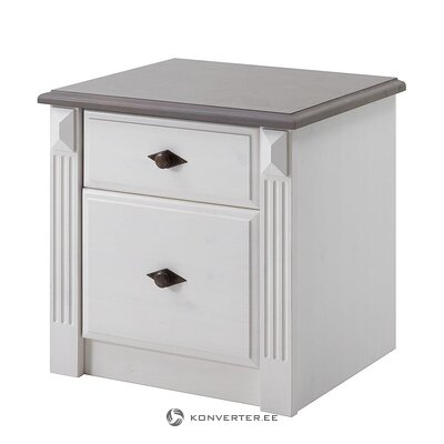 White-gray bedside table (cenan)