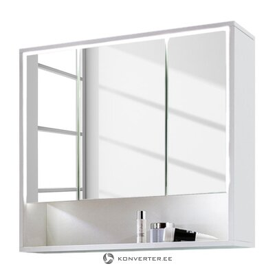 White bathroom mirror cabinet (cupak) (defective., Hall sample)