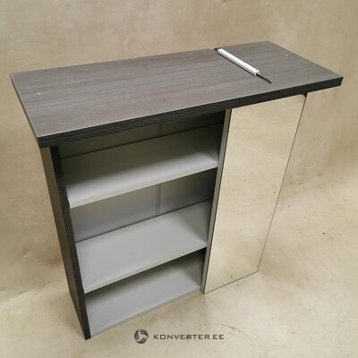 Gray bathroom cabinet with lighting (cesa)