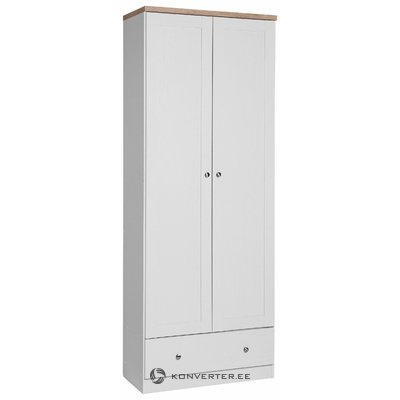 Hector Wardrobe 2 doors/1 Drawer- White/S.Oak