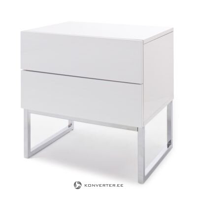 White high gloss bedside table (nola) (Hall sample, whole)