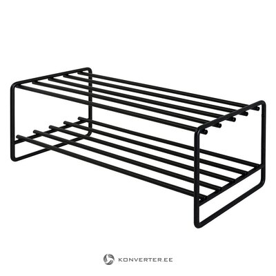 Black metal shoe shelf (opp)