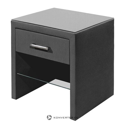 Gray textile bedside table (belaja) (with beauty defects)