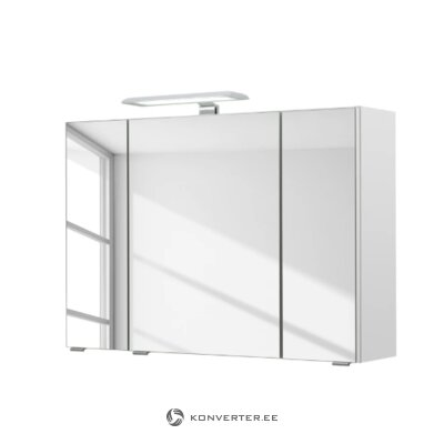 White bathroom mirror (lea)