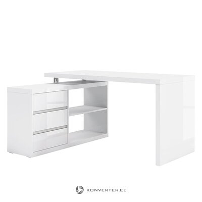 White high gloss desk (teshie)