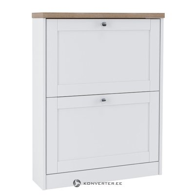 Hector Shoe Chest 2 Flaps - White/S.Oak