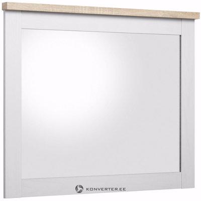 Hector Mirror - White/S.Oak