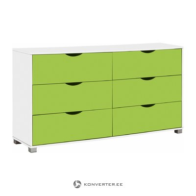 Nelson Chest 6DR - White/Green