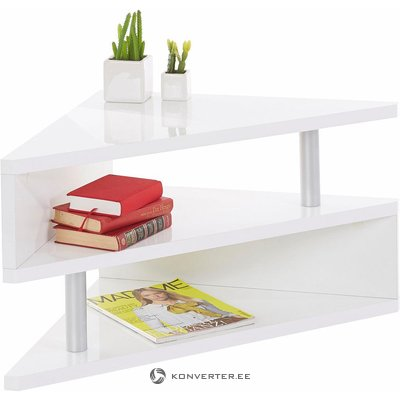 White high gloss sofa table (with beauty defects, in box)