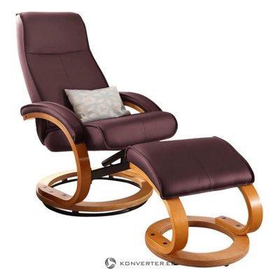 Кресло паприка / пуфик пу пу / шпон