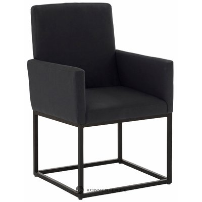 Anton Armchair, Fabric - black