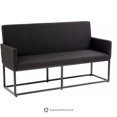 Anton Bench fabric S - black