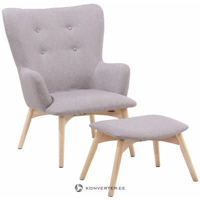 Кресло Ньюман - светло-серый